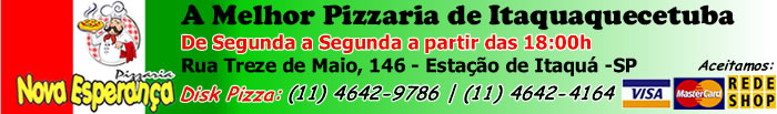 Pizzaria Nova Esperança. A Melhor Pizzaria de Itaquaquecetuba